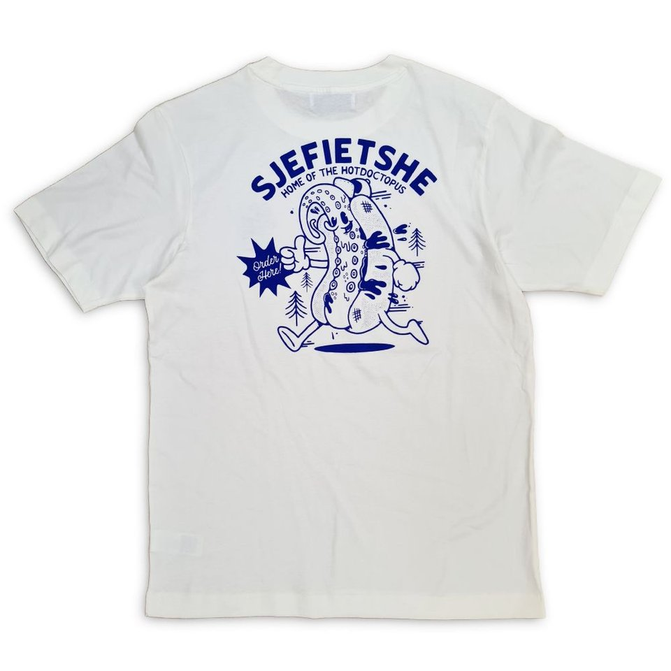 Behind The Pines Behind the Pines x Sjefietshe Hotdogtopus Tee Off White #1
