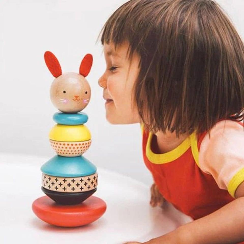 Petit Collage houten stapeltoren Modern Bunny +12 mnd #2