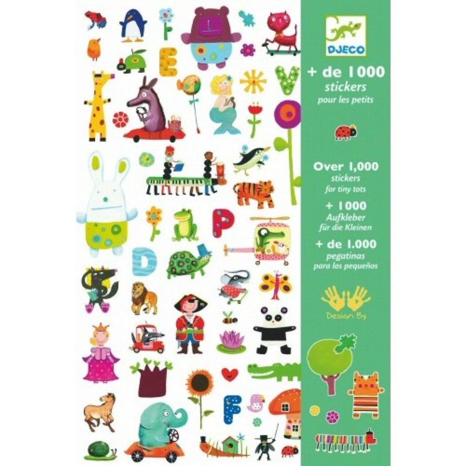 1000 Stickers Kleintjes