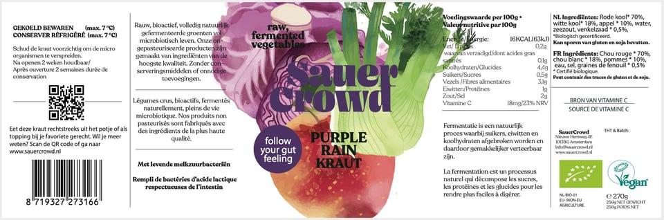 Purple Rain Kraut (unpasteurised) #3
