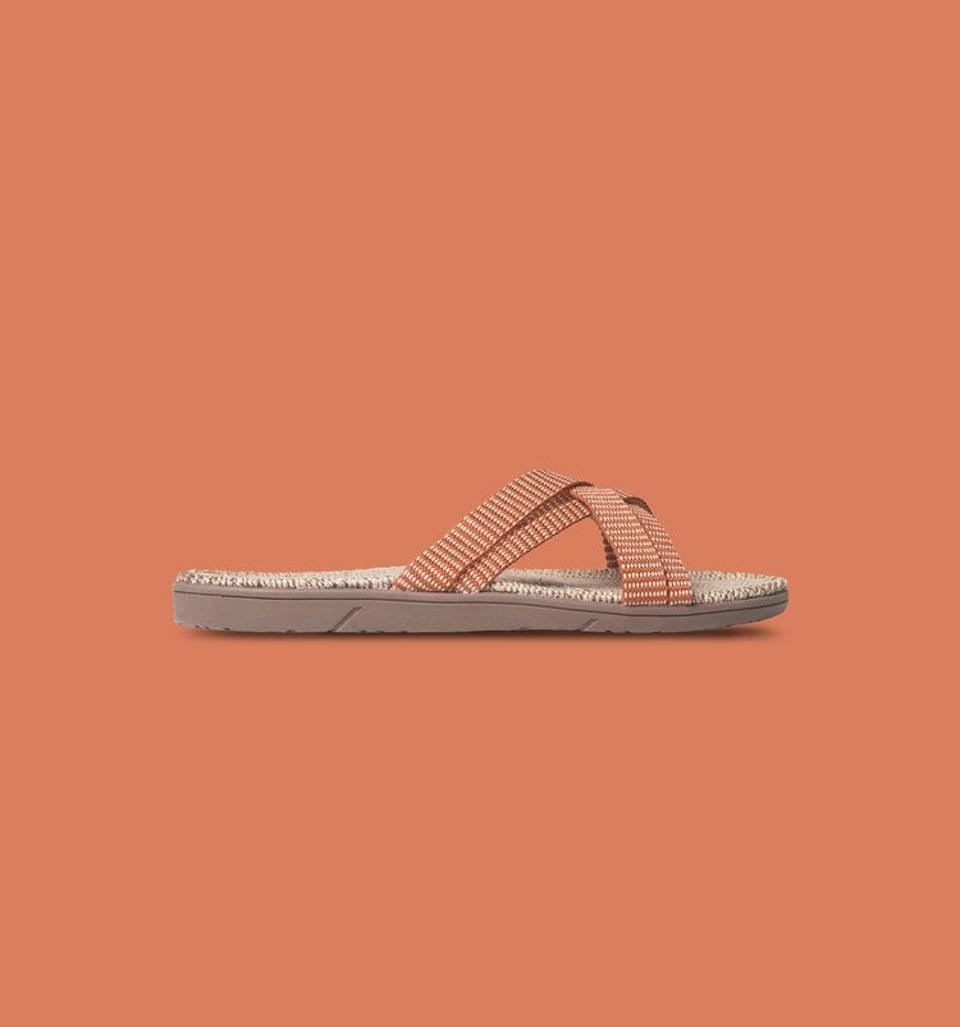 Shangies slippers dames oranje gestreept #1