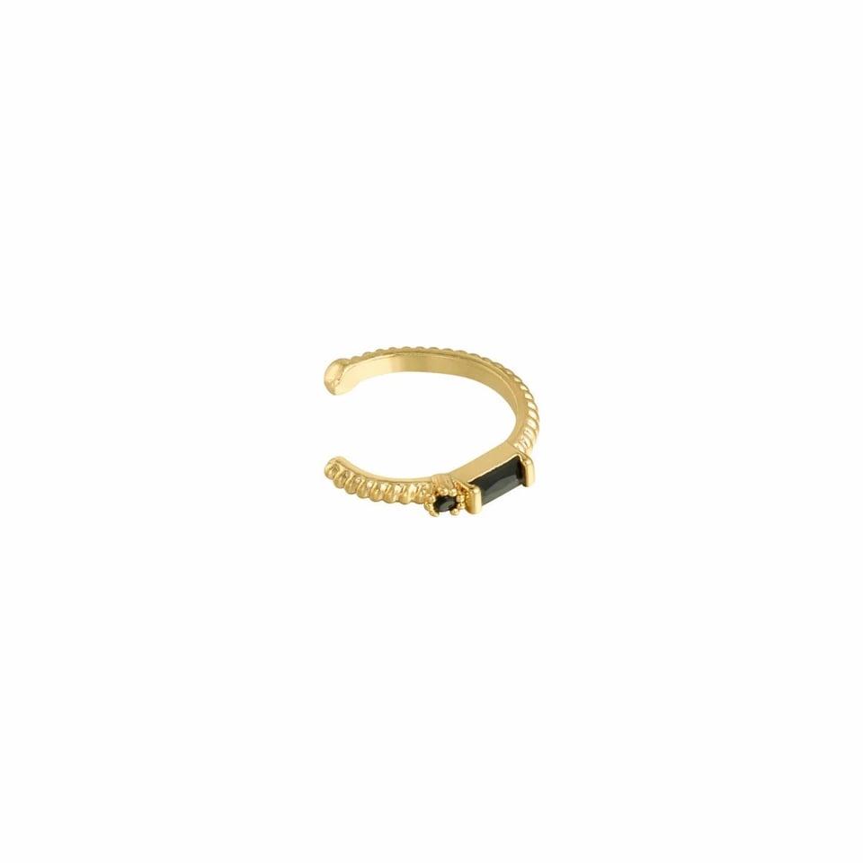 Small earcuff Black & Gold