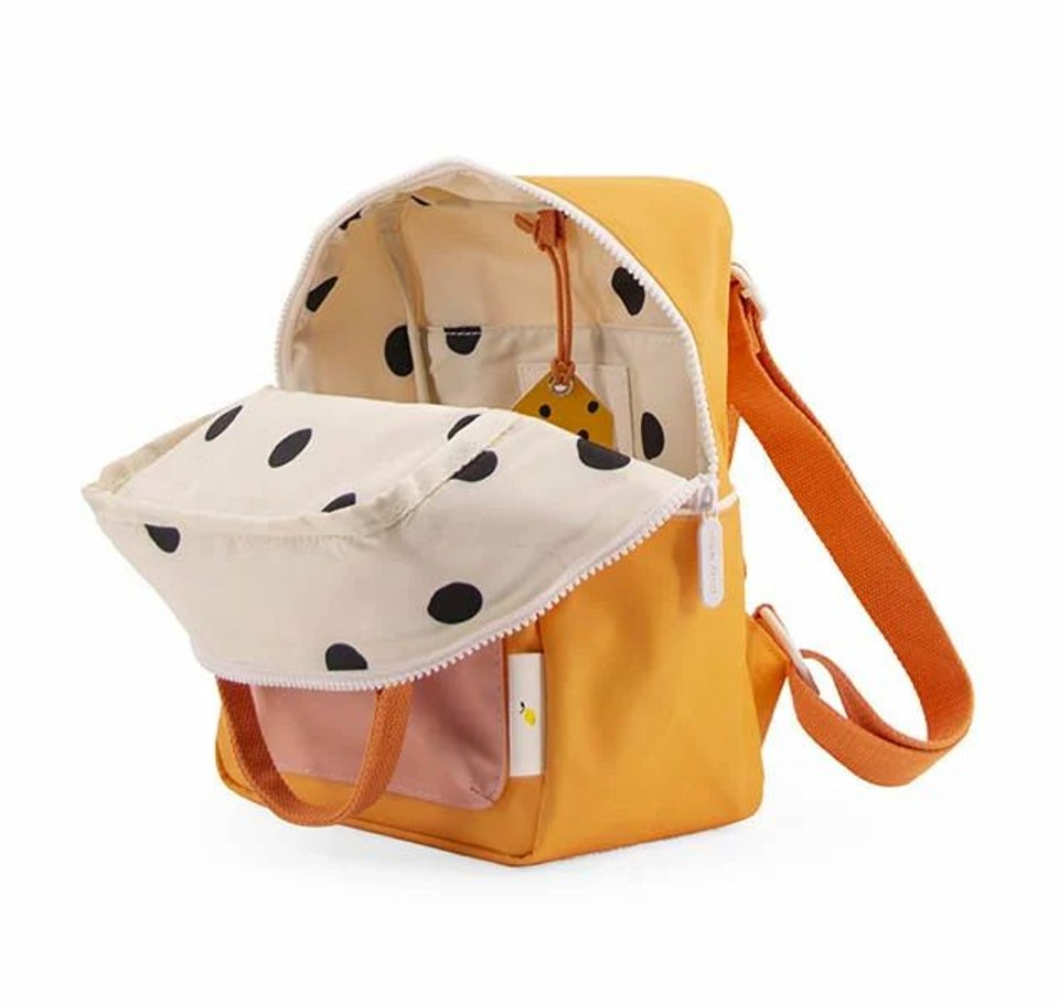 Sticky Lemon small backpack wanderer - sunny yellow + carrot orange + candy pink  #1