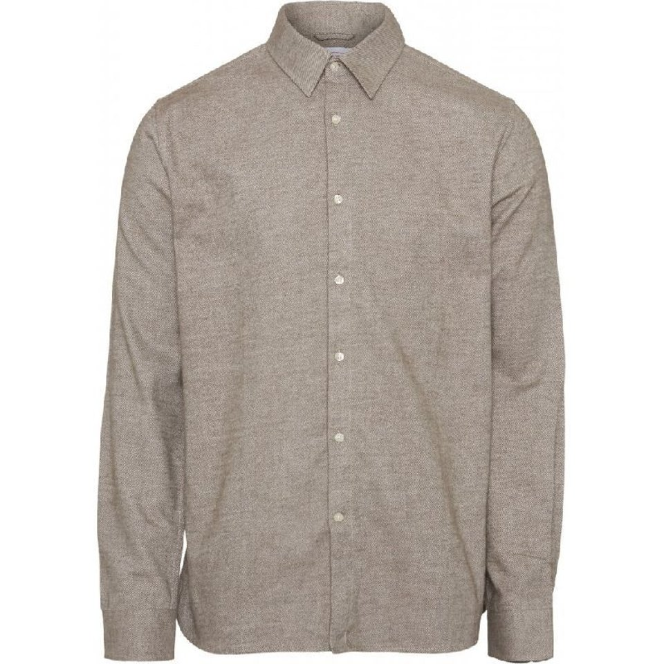 KnowledgeCotton Apparel KnowledgeCotton Apparel Larch Casual fit Heavy Flannel Shirt