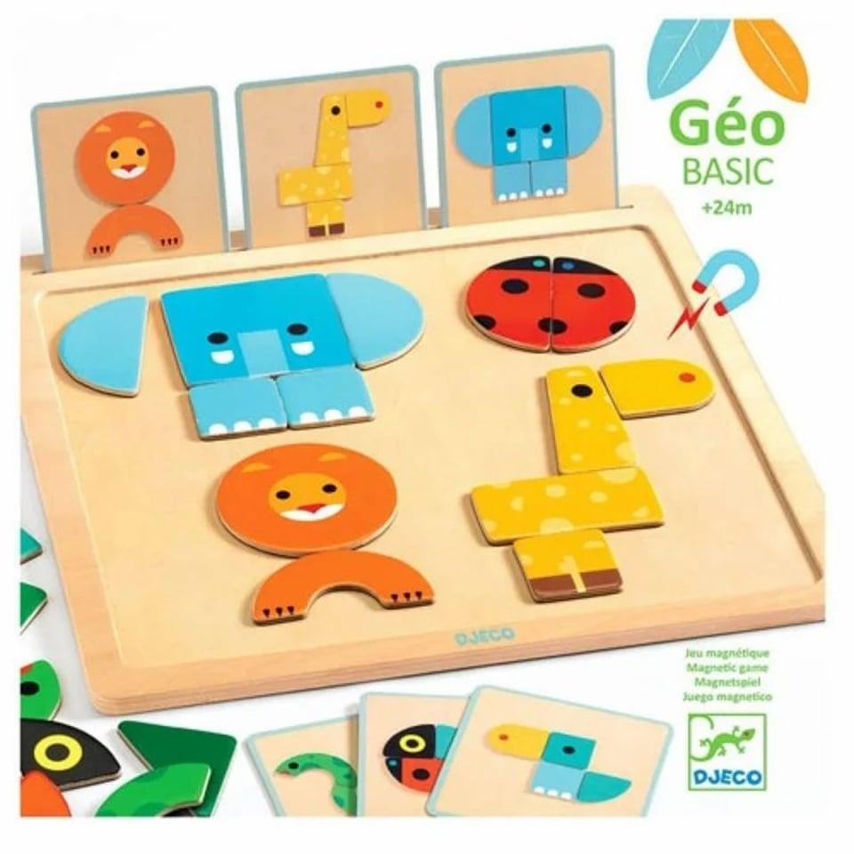 Djeco Geo Basic magnetisch puzzelspel 2+
