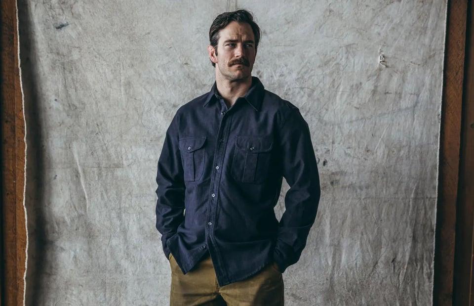Filson Filson Moleskin Seattle Shirt Navy #3