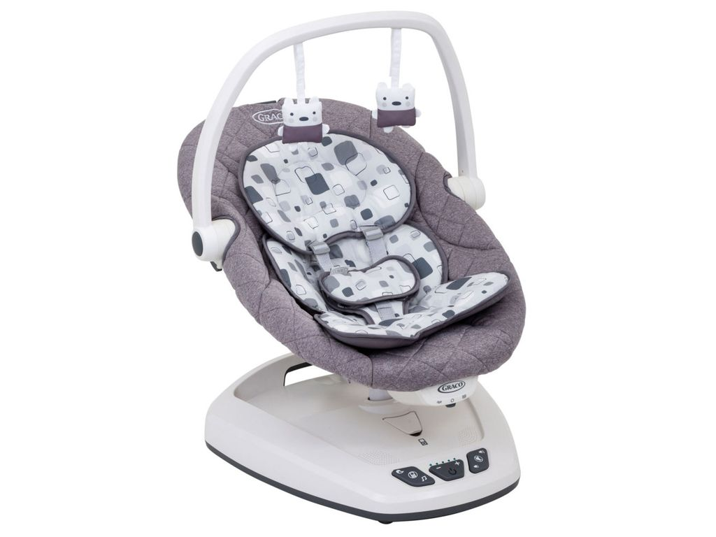 Graco Floor Swing: Graco Move With Me Swing With CanopyBlock Party