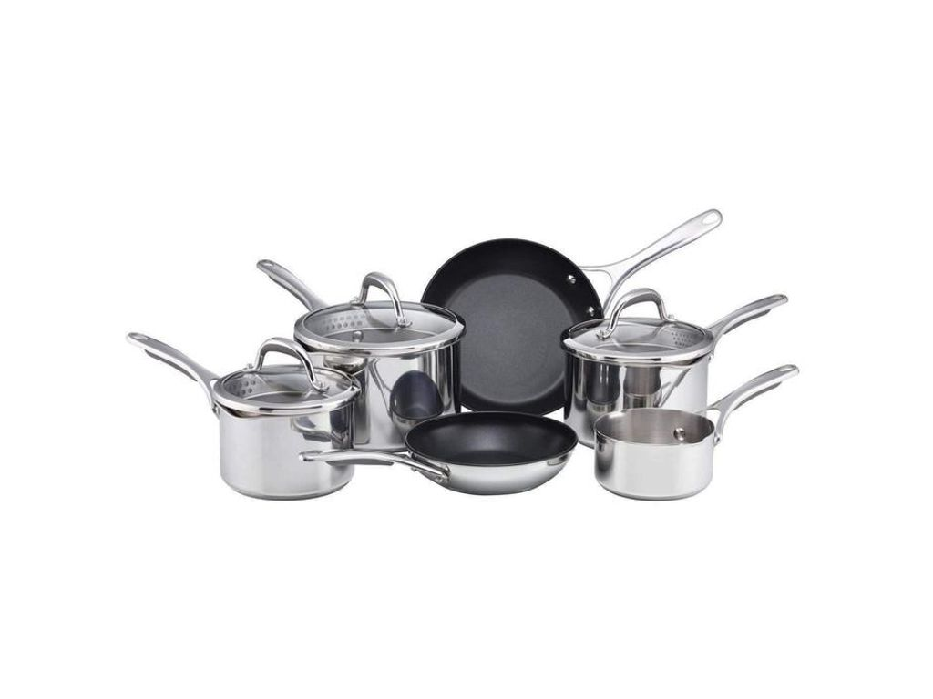 Meyer Select 6 Piece Pan Set With Glass Straining Lids
