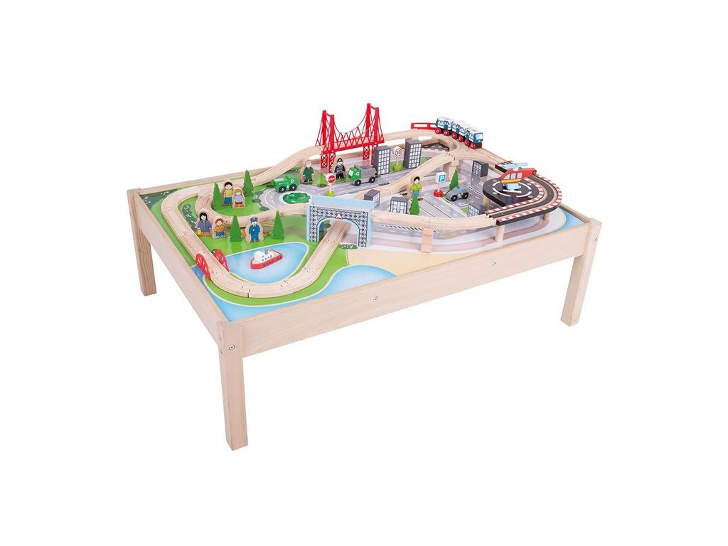 Bigjigs Wooden Train Table City On Course Bigjigs Rail