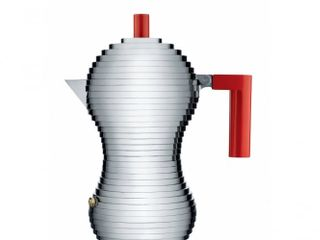 Alessi Pulcina Espresso Coffee Maker - 6 Cup - Red