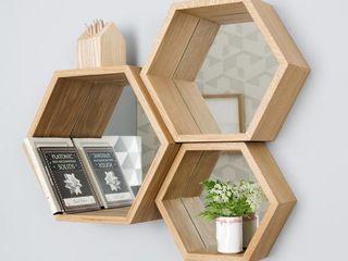 Hexagon Mirror Shelves - Nick James Design