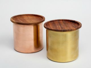 Ayasa Brass and Copper Storage Containers