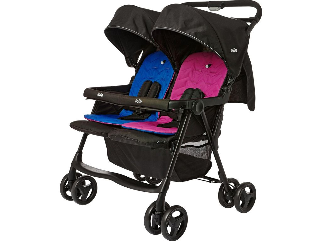 joie aire blue and pink twin pushchair joie peddler. Black Bedroom Furniture Sets. Home Design Ideas