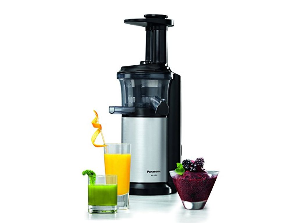 Panasonic Mj L500sxc Slow Juicer With Frozen Sorbet Attachment 150 W Silver : Panasonic MJL500SXC Slow Juicer with Frozen Sorbet Attachment 150 W